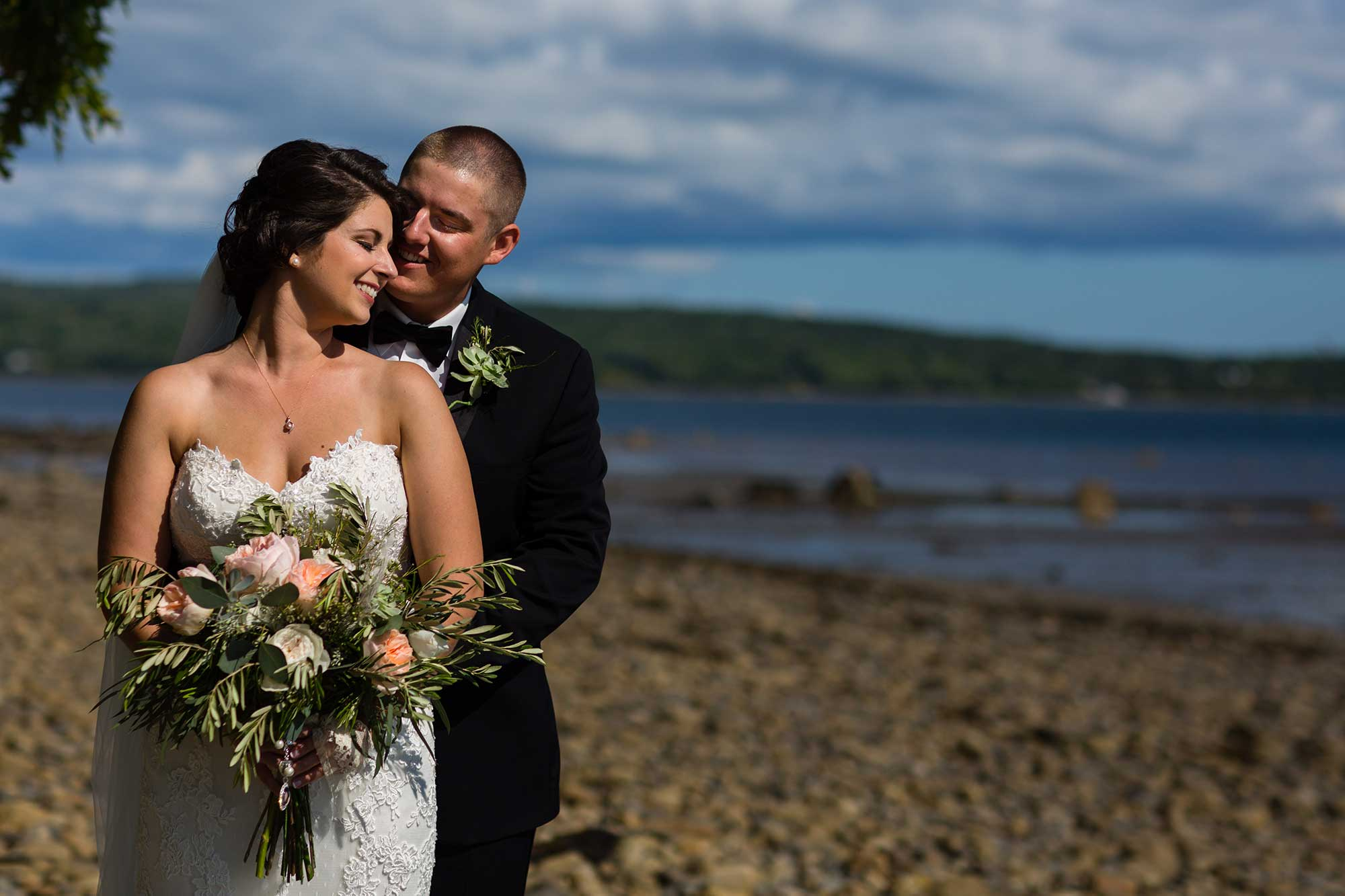 Flowers by Hoboken – beach bridal bouquet, greenery bouquet, wedding flowers