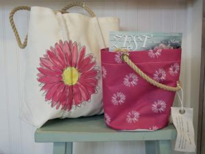 Flowers by Hoboken – cute summer tote, beach bag, bags for her, gift shop, Maine gift shop
