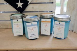 Flowers by Hoboken – gift shop, soy candles, homemade candles, candle gift ideas, salty beach studio candles